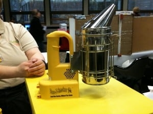 Beekeeping power tools!  We saw this fancy smoker at a bee convention.  This is a bit on the overkill side!