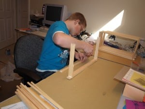 If you only have 20-40 frames to assemble, no problem.  All you need is a hammer, some gorilla glue, and a free Saturday afternoon.  If you need to do 50 or more, you might want to get a frame nailing jig and an air stapler!