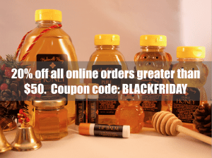 20% off all orders > $50. Coupon code = BLACKFRIDAY.
