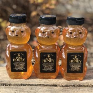 Three 12oz honey bears